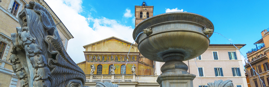 Trastevere santa maria walking tour