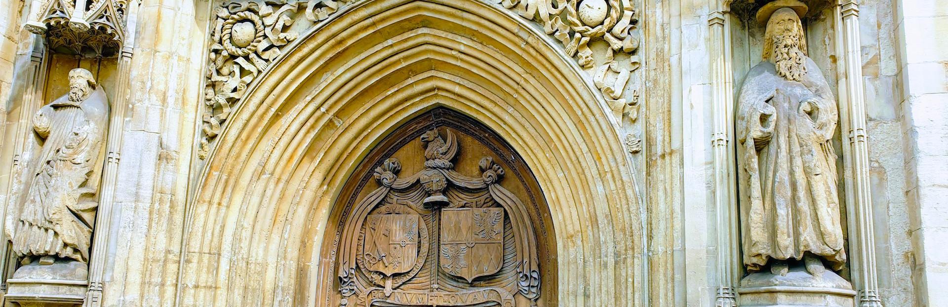 Bath abbey west doors d
