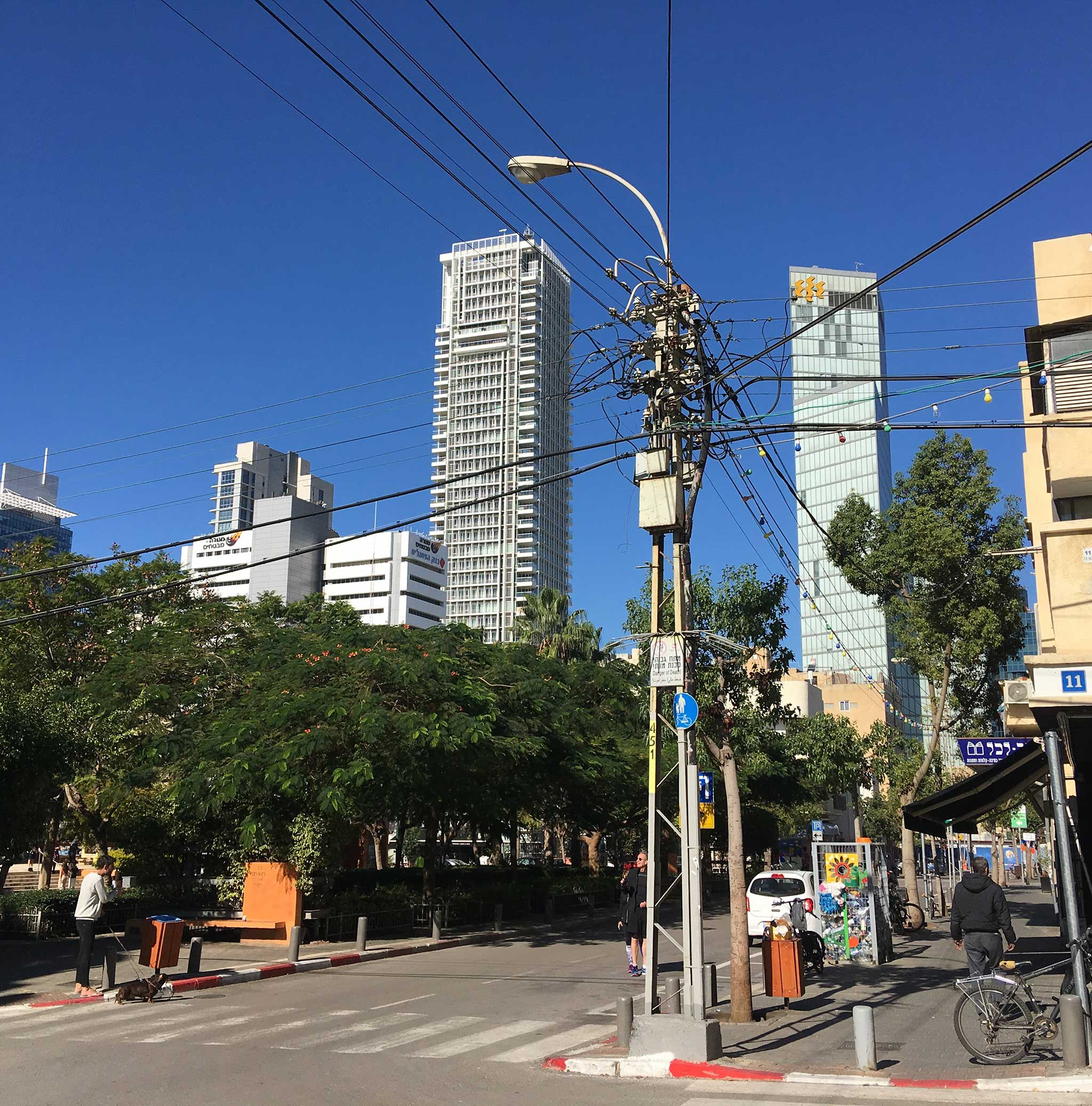 Along HaHashmal Street on Tel Aviv audio tour The Electrifying Story of Gan HaHashmal and Its Architecture