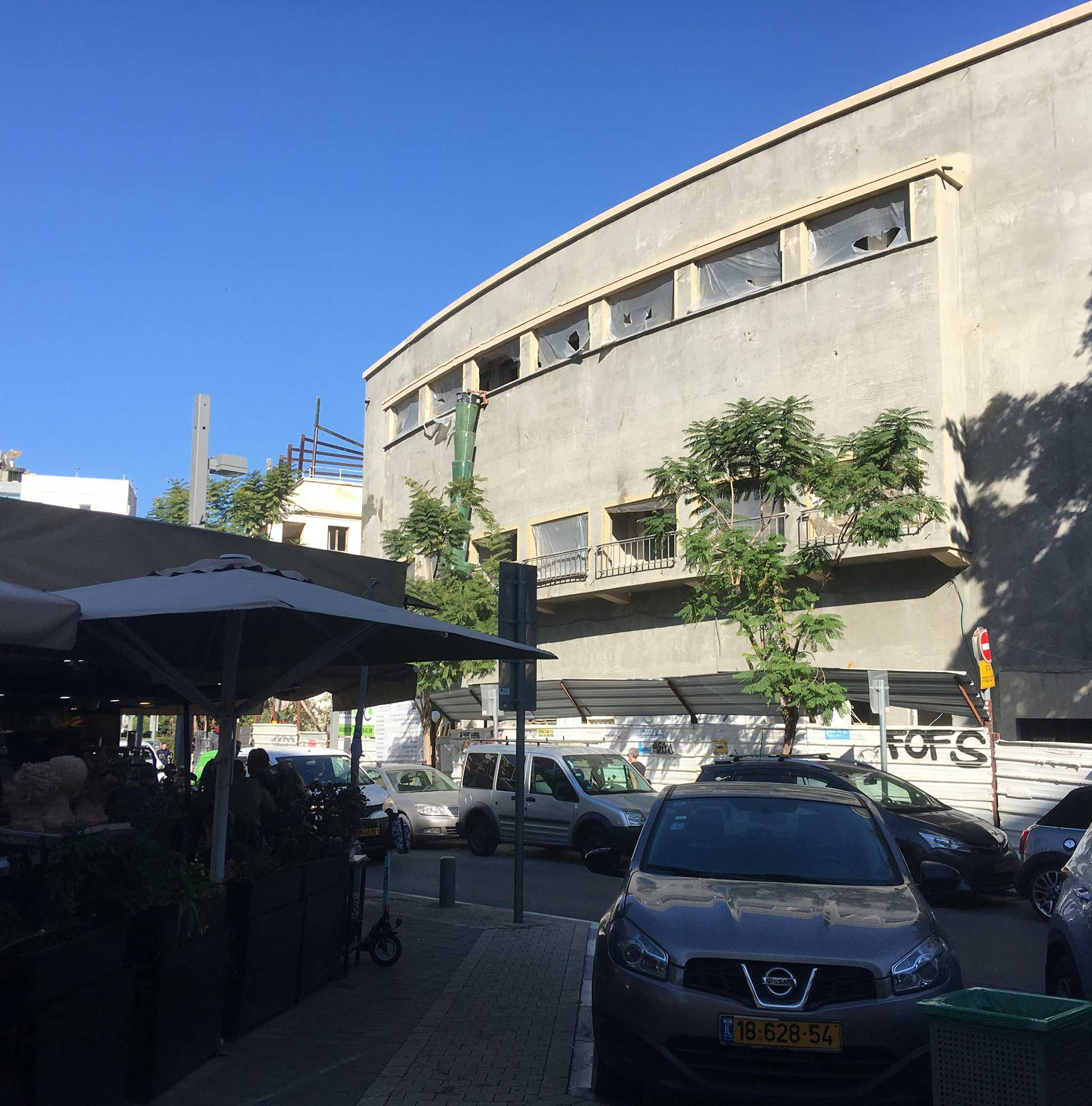 Ohel Theatre on Tel Aviv audio tour The White City