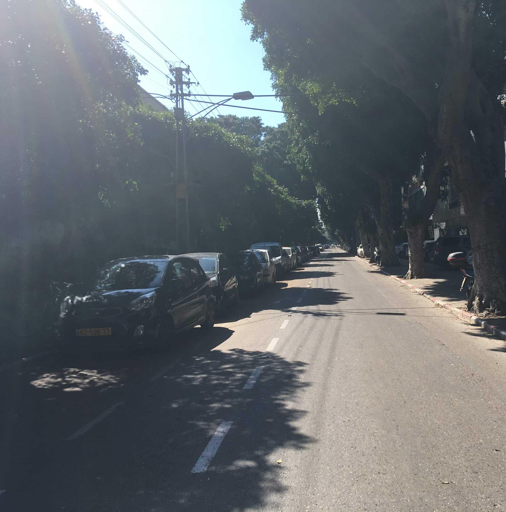 Reines Street on Tel Aviv audio tour The White City
