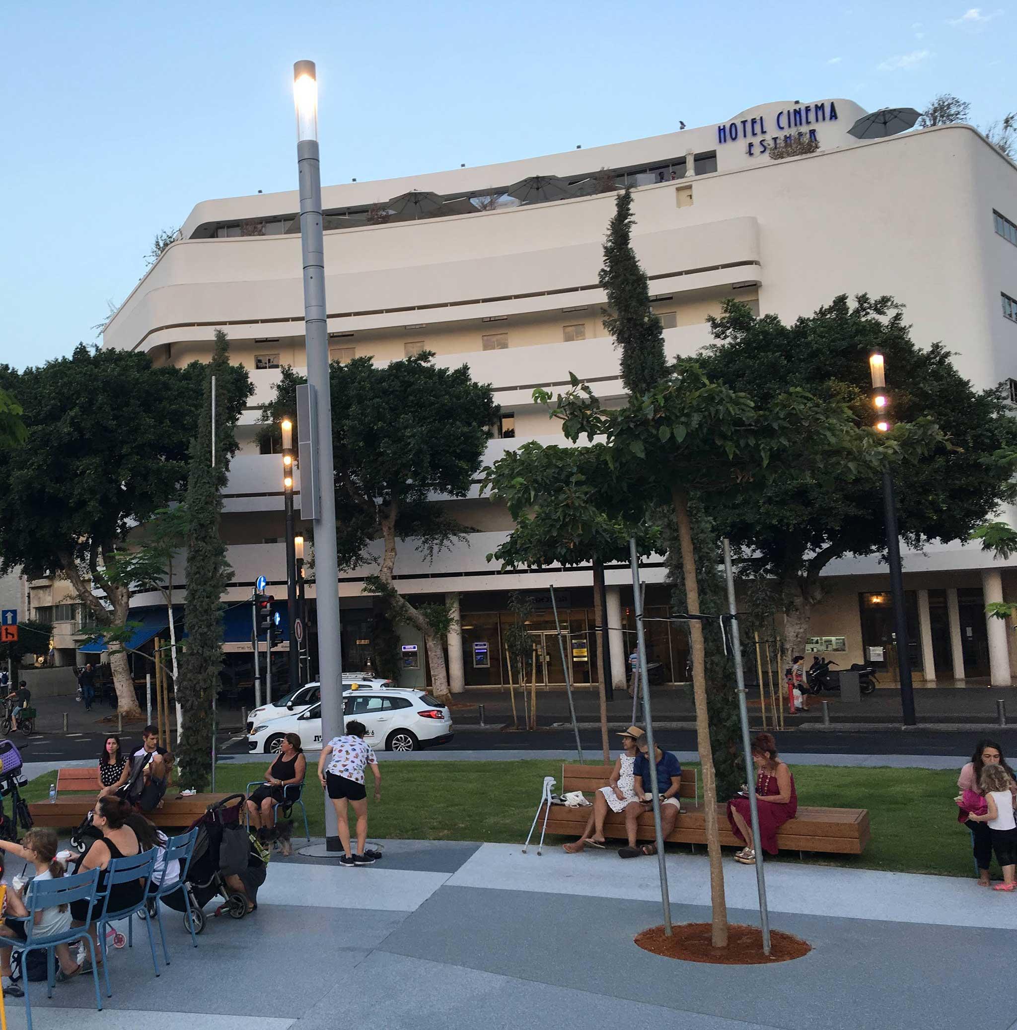 Hotel Cinema on Tel Aviv audio tour The White City