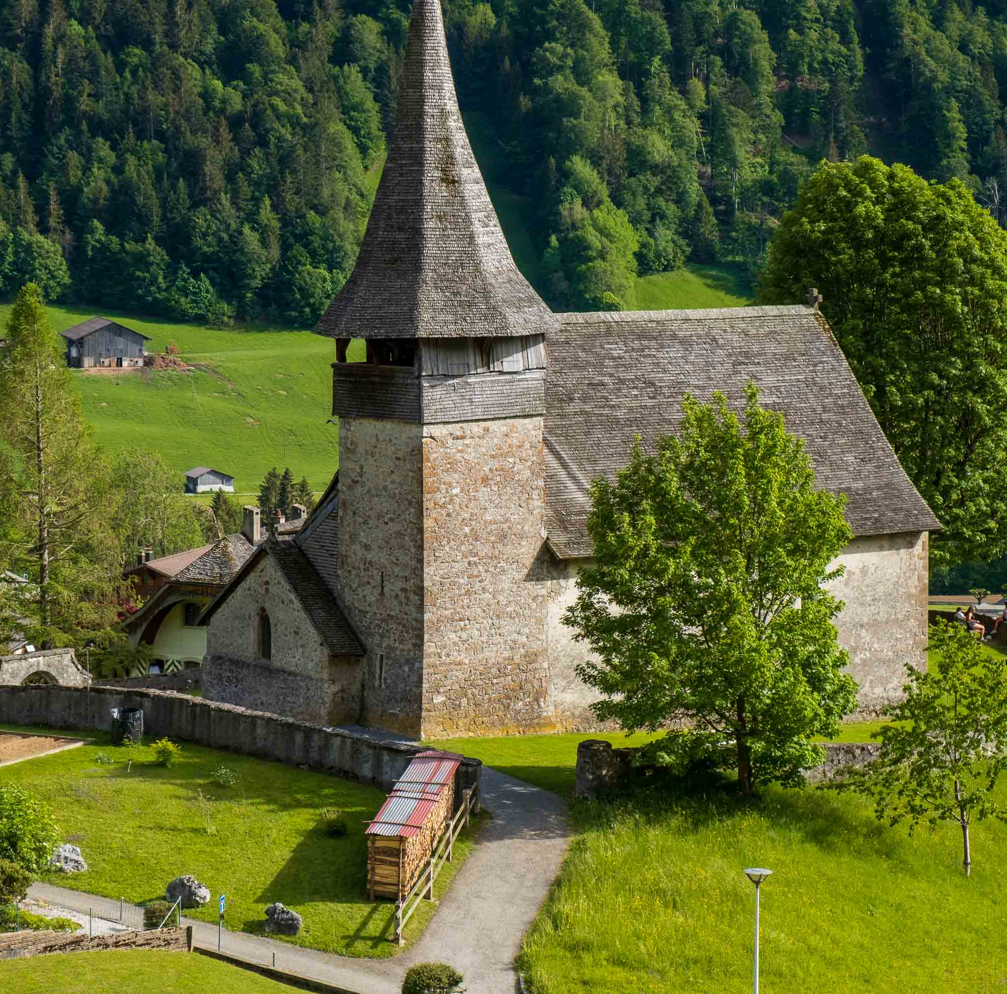 Rossinière Church on Rossinière audio tour Cowbells, Chalets and Balthus: A Swiss Alpine Village Excursion