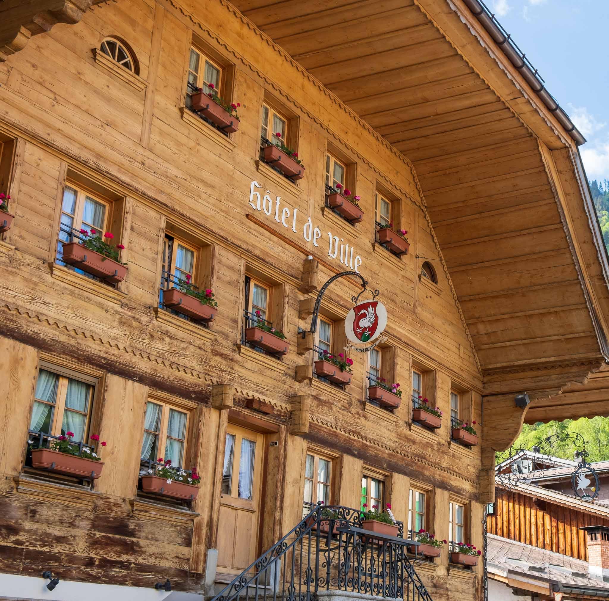 The Town Hall on Rossinière audio tour Cowbells, Chalets and Balthus: A Swiss Alpine Village Excursion