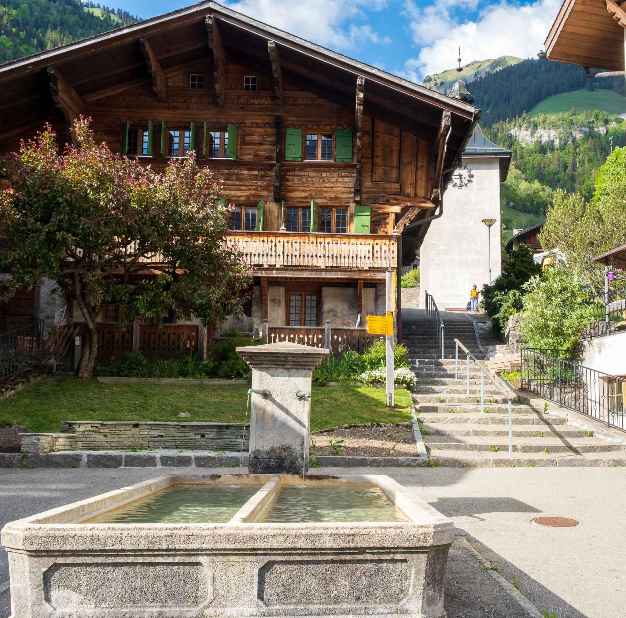 Chez Cali, Village Grocery on Rossinière audio tour Cowbells, Chalets and Balthus: A Swiss Alpine Village Excursion