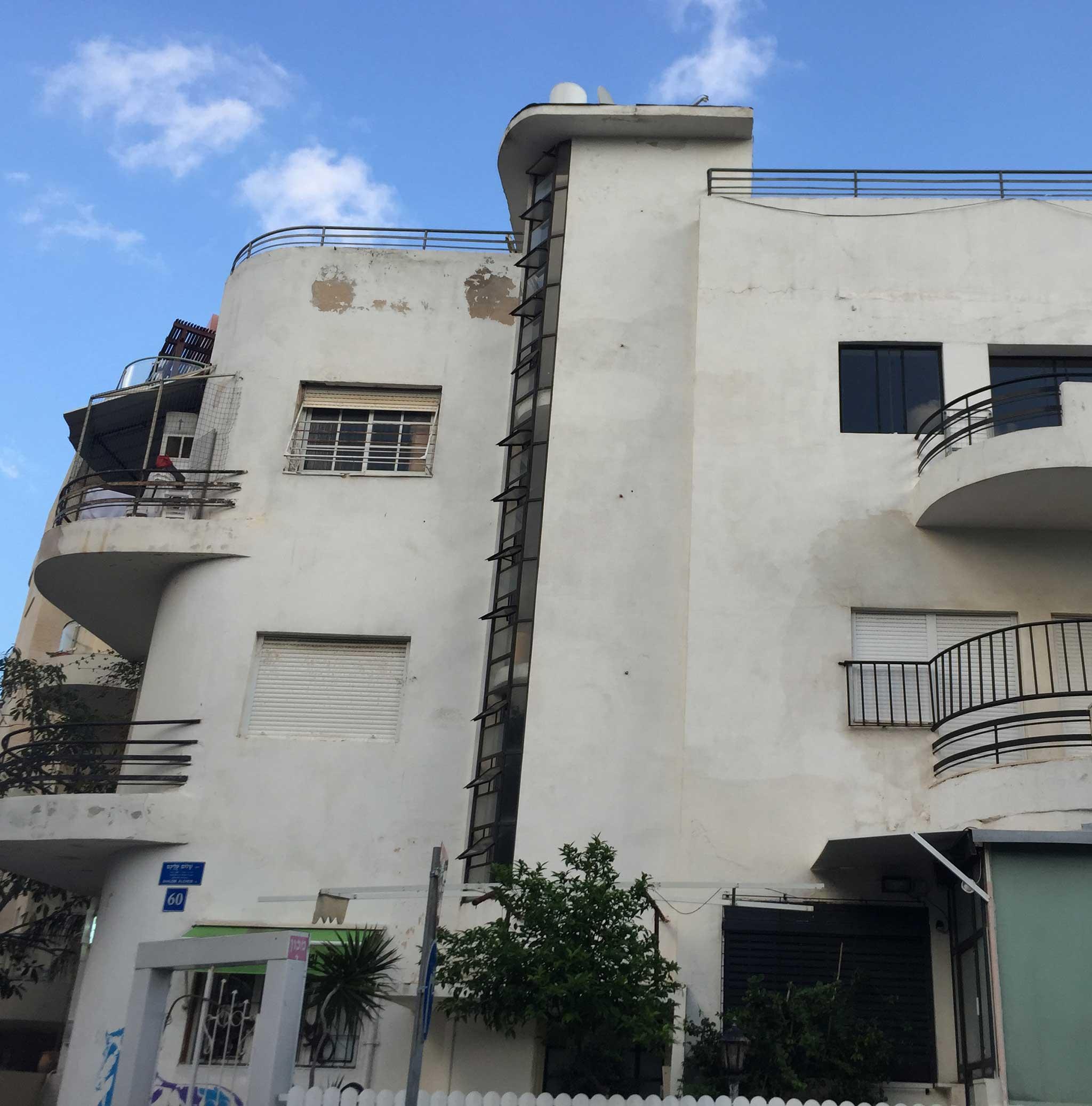 Right on Dove Hoz St on Tel Aviv audio tour The White City