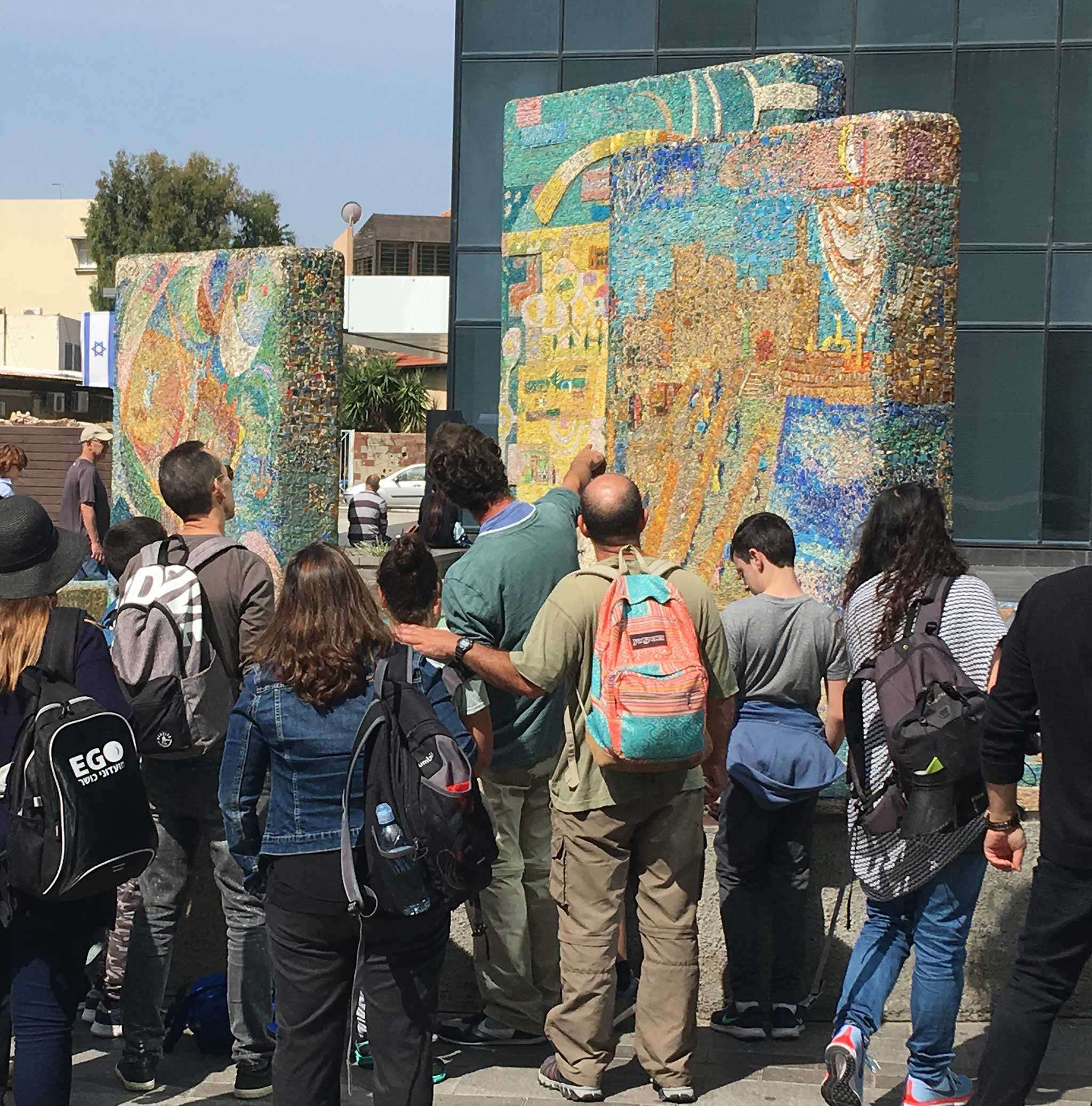 Gutman's mosaic fountain on Tel Aviv audio tour The Trail of Independence: Tracing the origins of modern Tel Aviv