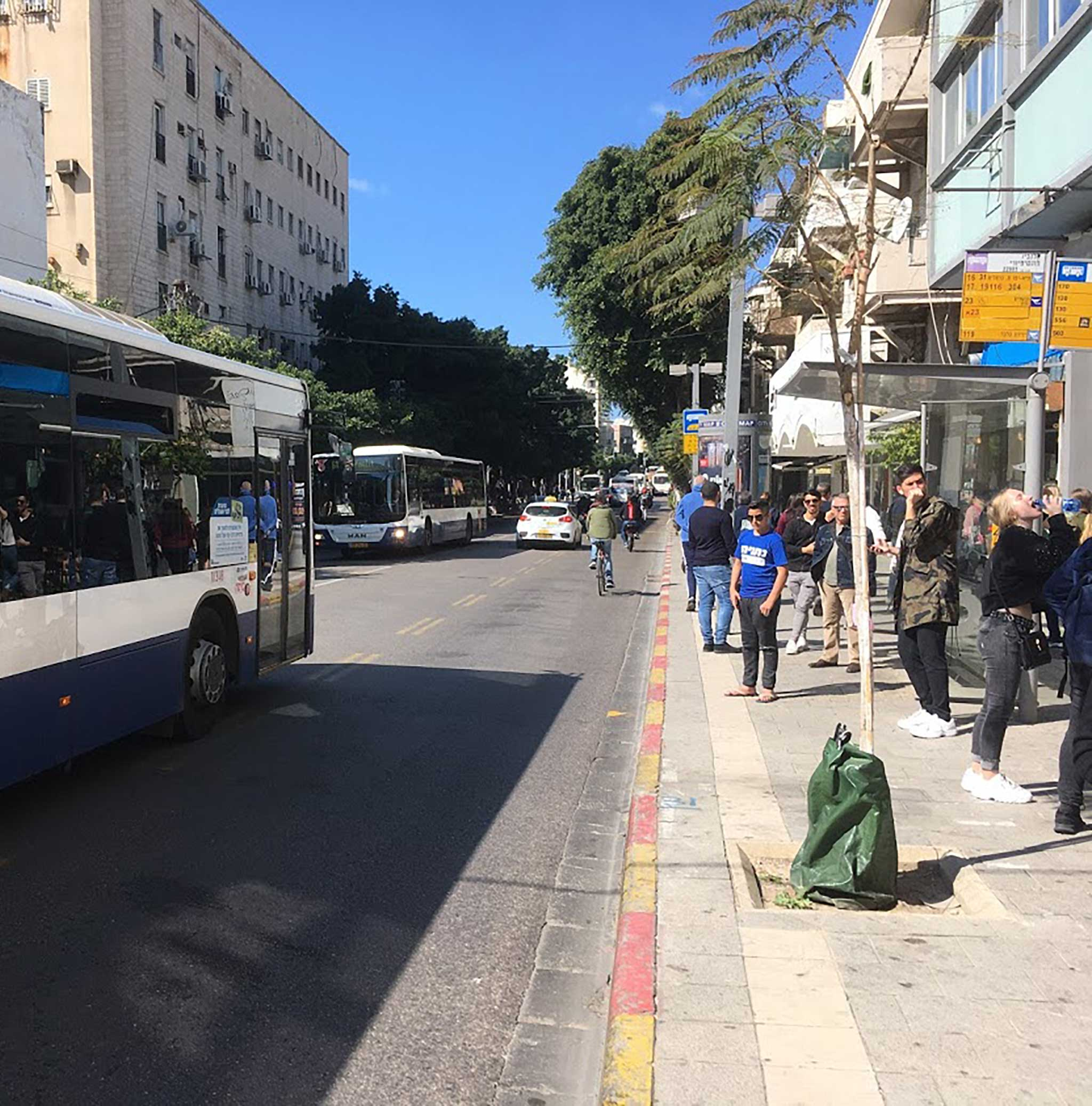 Allenby Street on Tel Aviv audio tour The Trail of Independence: Tracing the origins of modern Tel Aviv