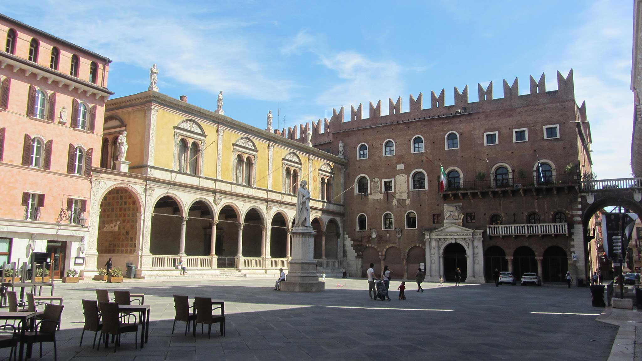 Piazza dei Signori on Verona audio tour A stroll through the city of Romeo and Juliet