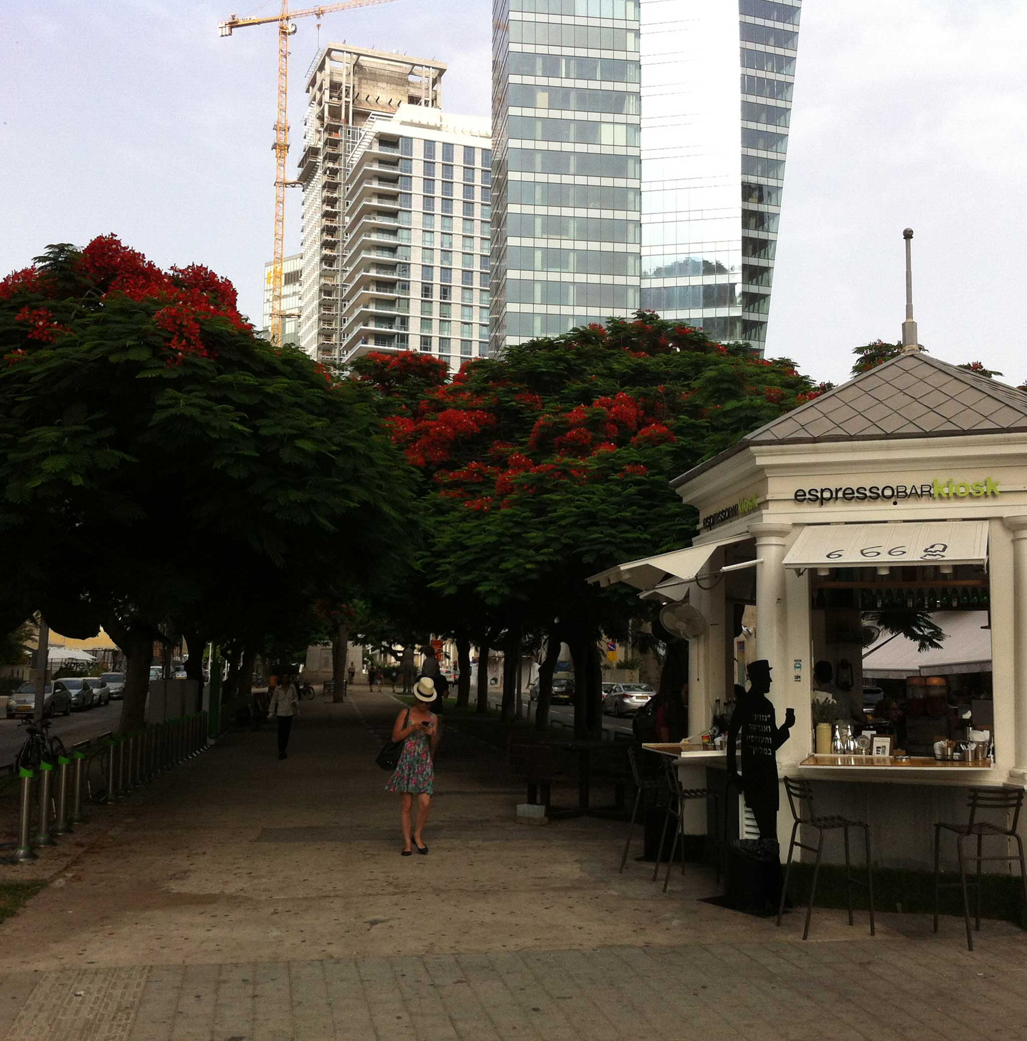 The First Kiosk on Tel Aviv audio tour The Trail of Independence: Tracing the origins of modern Tel Aviv