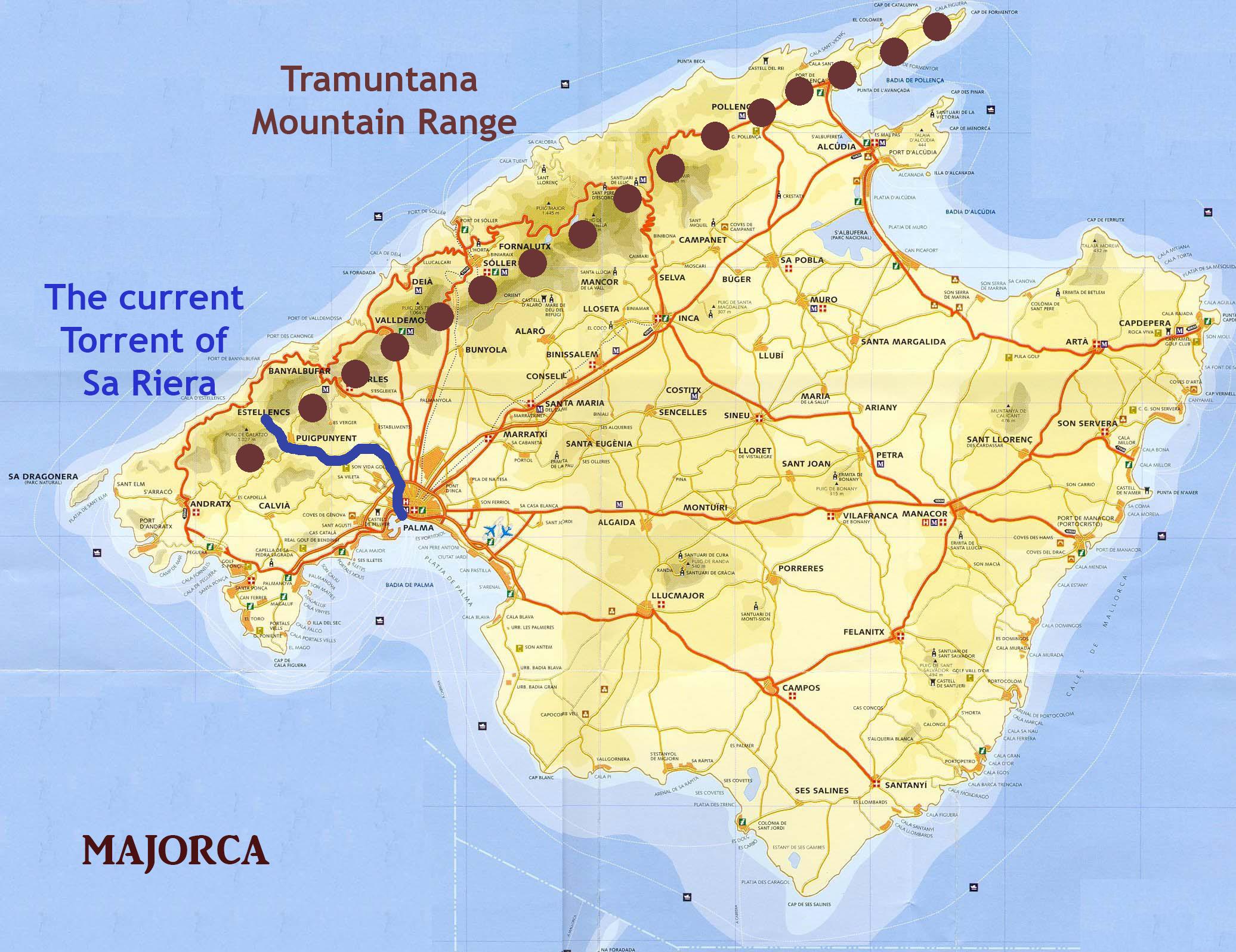 The Former Torrent of Sa Riera on Palma audio tour Palma's Alternative History Tour