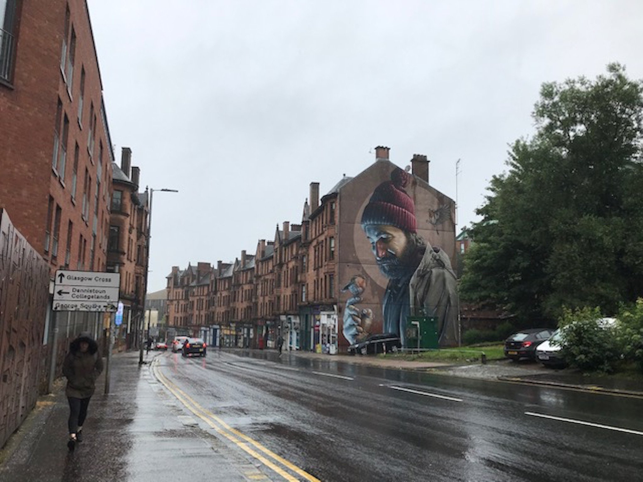 Mural on Glasgow audio tour Glasgow through the ages: A sightseeing walk from the Cathedral to Glasgow Green